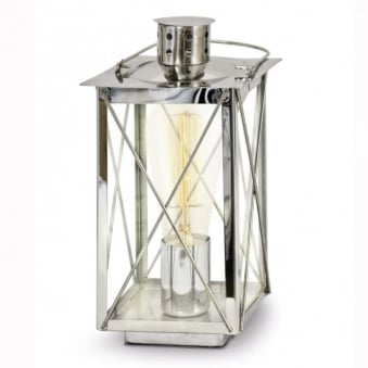 Donmington Chrome Lantern Style Table Lamp