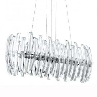 Drifter 8 Crystal and Chrome Pendant Light