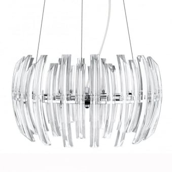 Drifter 9 Crystal and Chrome Pendant Light