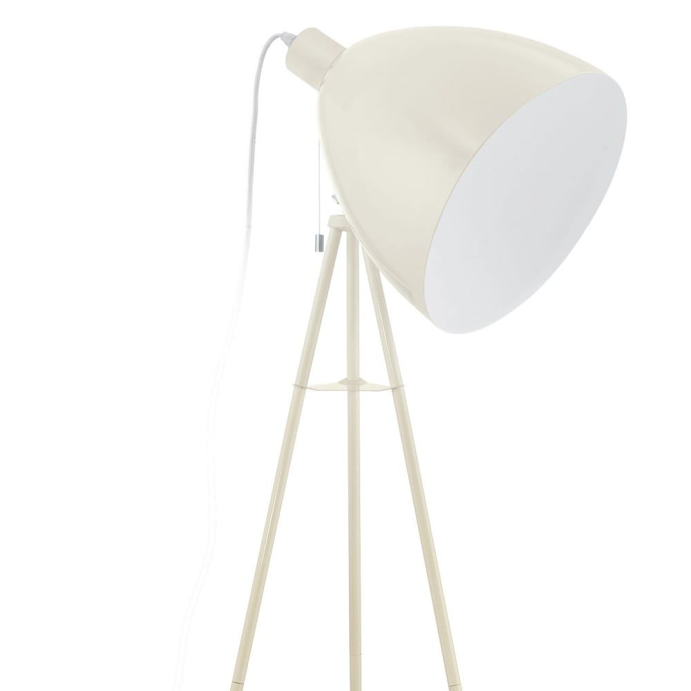 Eglo 49338 dundee sandy cream tripod floor lamp dundee sandy tripod floor lamp aloadofball Images