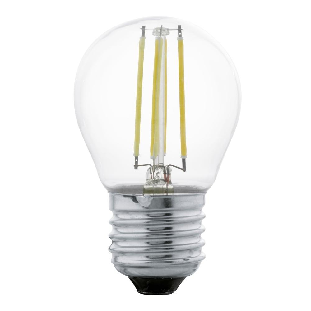 eglo 11498 e27 es 4w clear golf ball led filament lamp. Black Bedroom Furniture Sets. Home Design Ideas