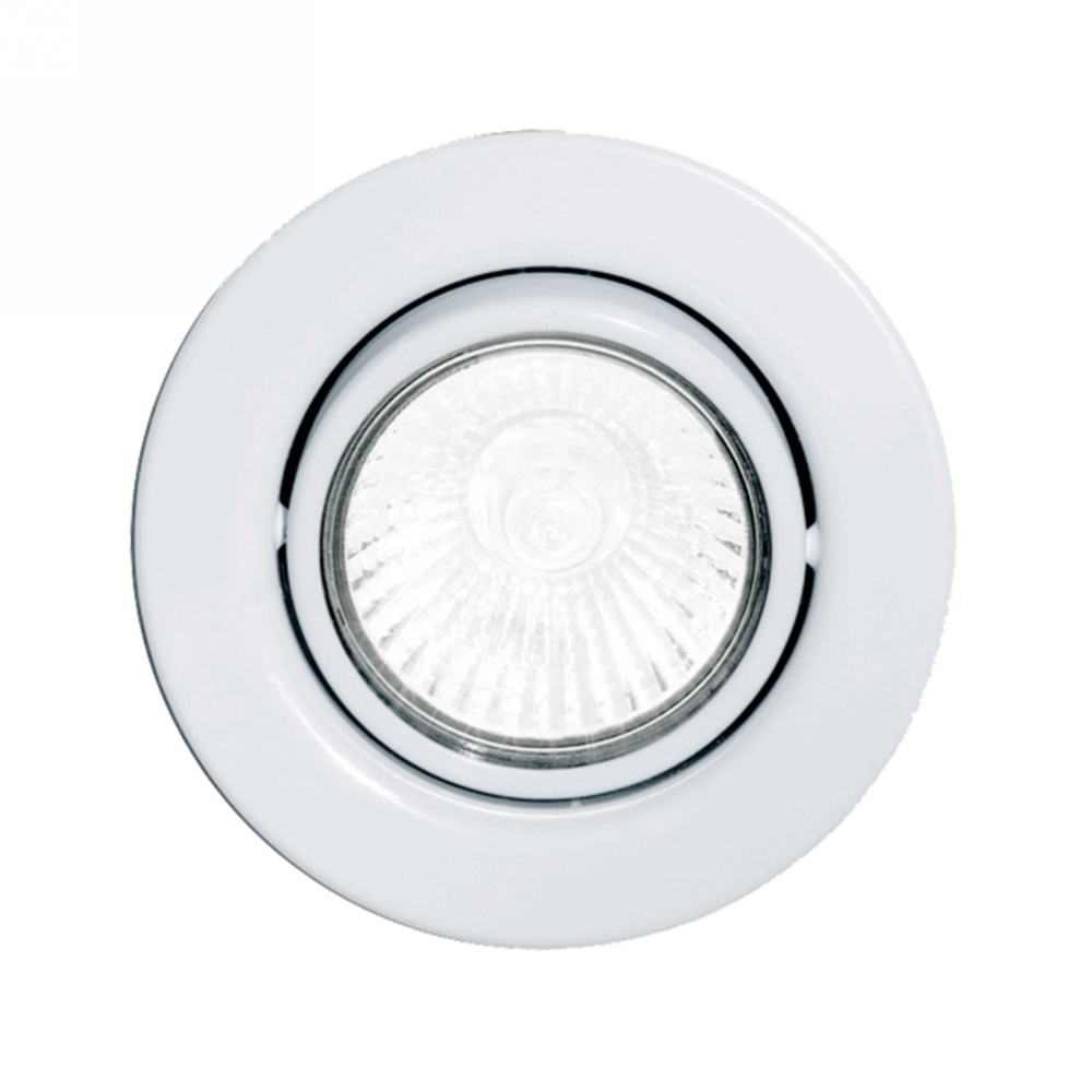 Eglo 87377 Einbauspot Gu10 Adjustable Spotlight In White