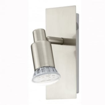 Eridan LED Single Spotlight in Satin Nickel