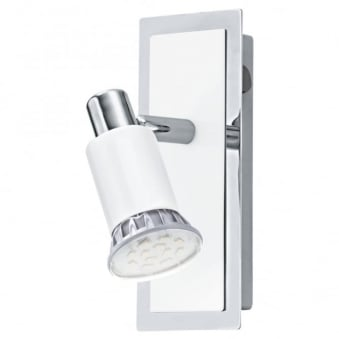 Eridan LED Single Spotlight in White and Chrome