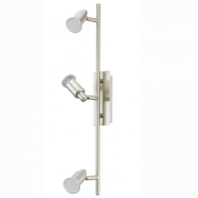 Eglo Eridan LED Triple Bar Spotlight in Satin Nickel