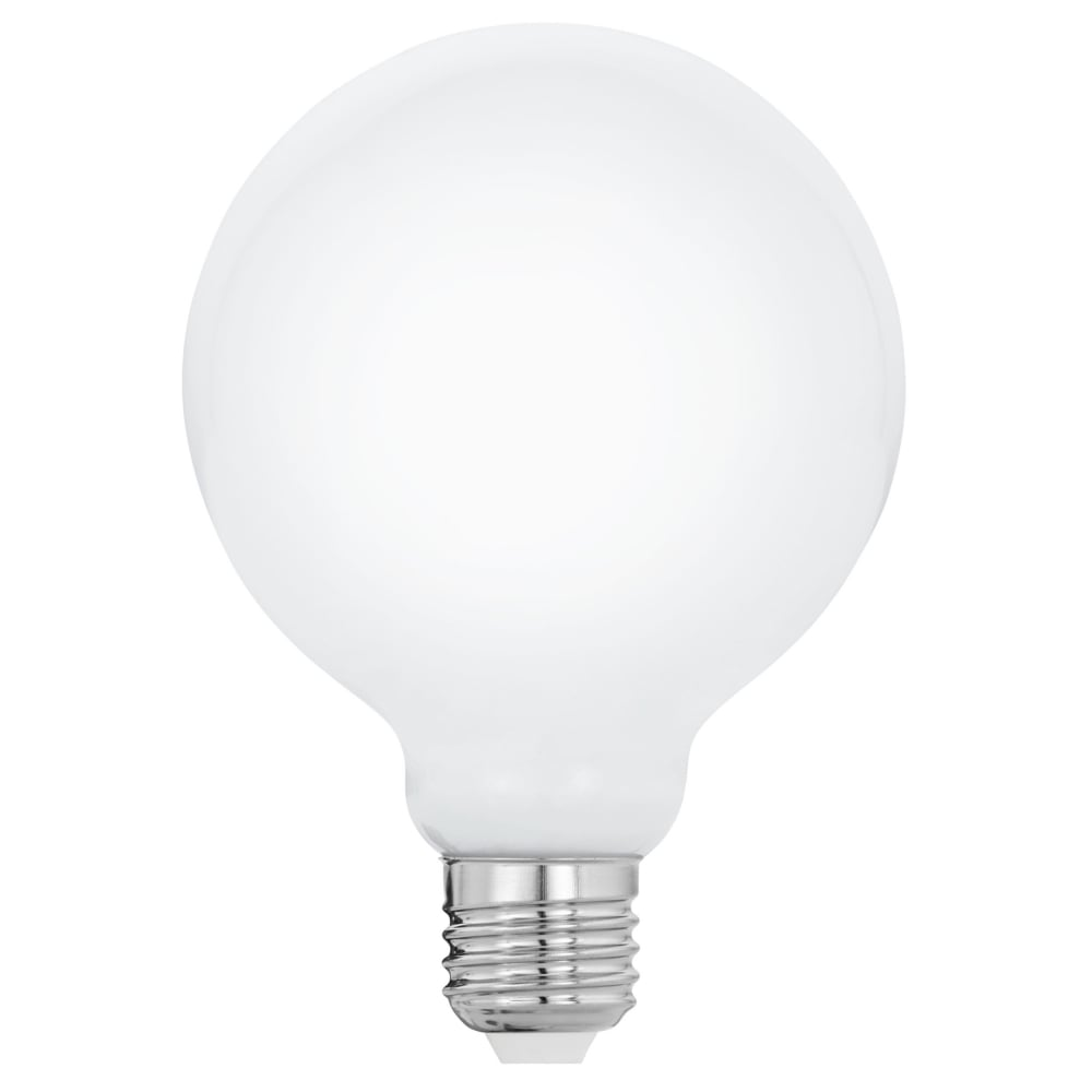 eglo 11601 es e27 large globe 8w led opal lamp g95. Black Bedroom Furniture Sets. Home Design Ideas