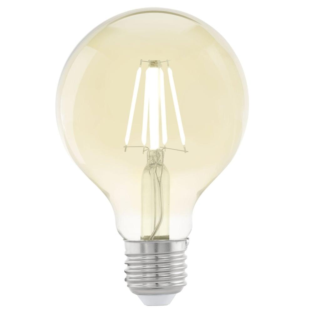eglo 11556 es e27 small globe 4w led filament lamp. Black Bedroom Furniture Sets. Home Design Ideas