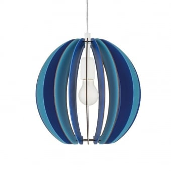 Fabella Pendant in Dark and Light Blue