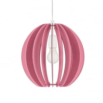 Fabella Pendant in Dark and Light Pink