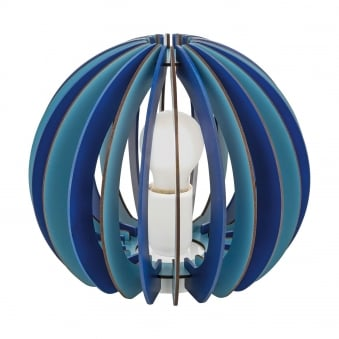 Fabella Table lamp in Dark and Light Blue