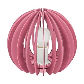Fabella Table Lamp in Dark and Light Pink