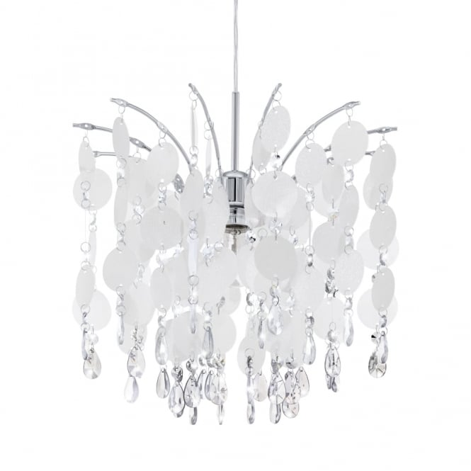 Eglo Fedra Small Crystal and Pearlescent Hanging Pendant Light