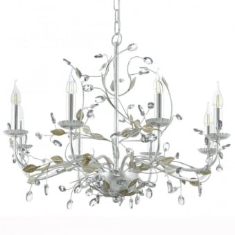 Flitwick 1 8 Light Silver and Crystal Chandelier