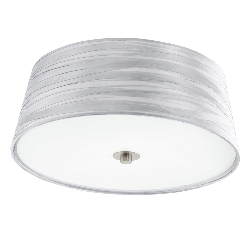 Eglo 94306 fonsea silver fabric wrap look ceiling light fonsea silver fabric wrap look ceiling light mozeypictures Choice Image