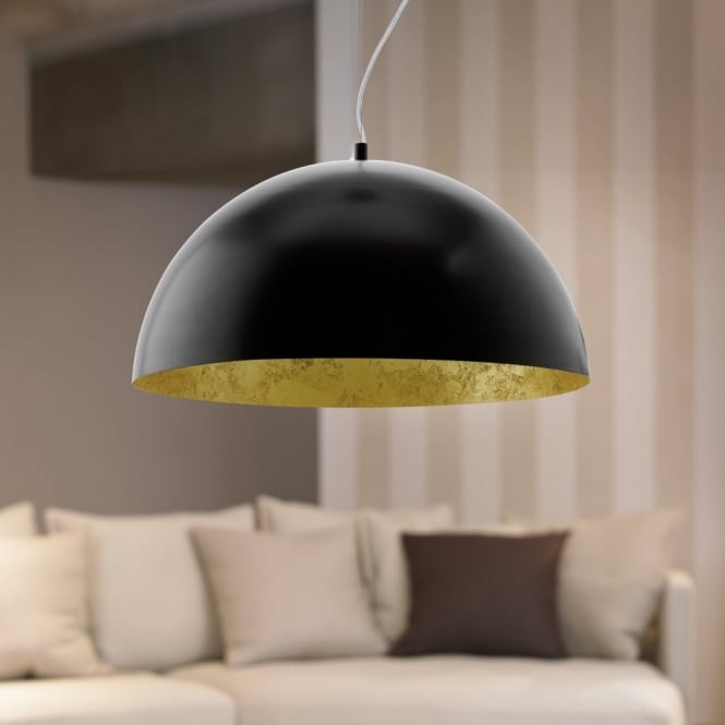 Eglo Gaetano Black and Gold LED Pendant Light