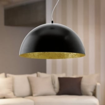 Gaetano Black and Gold LED Pendant Light