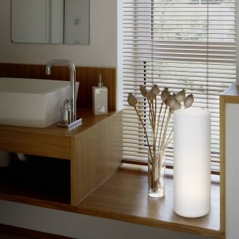 Geo Large White Opal Glass Table Lamp