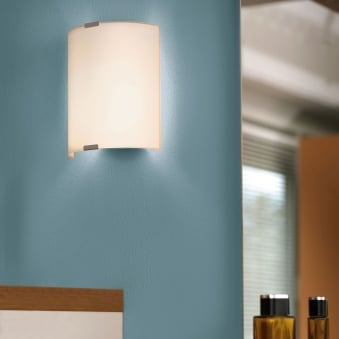 Grafik Satinated Glass and Steel Small Wall Light