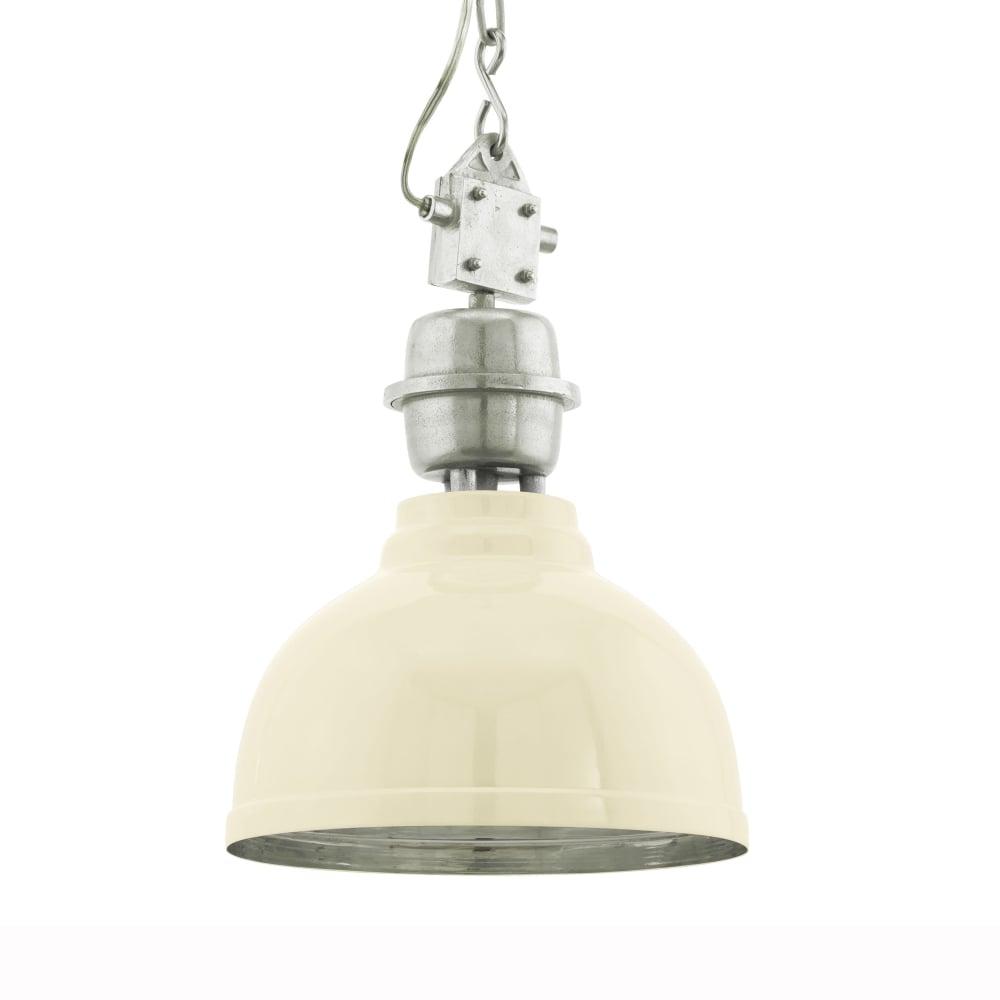 Eglo 49172 Grantham Cream Vintage Industrial Pendant Light