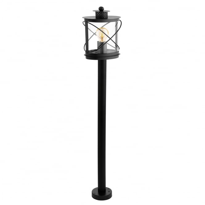 Eglo Hilburn Exterior Galvanised Steel IP44 Post Light in Black