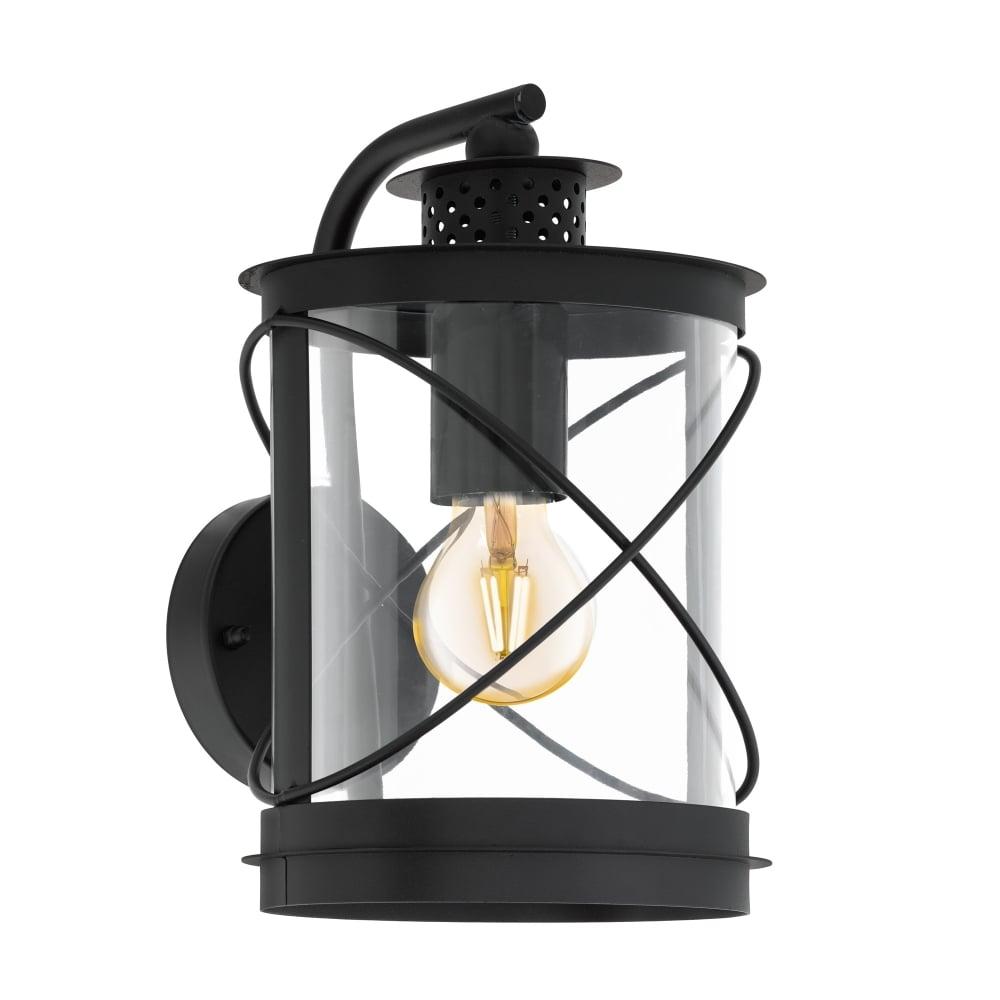 Eglo 94843 Hilburn Exterior Galvanised Steel IP44 Wall Light in Black