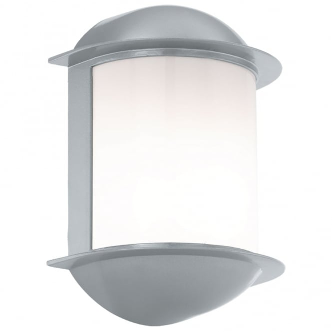 Eglo Isoba LED IP44 Outdoor Wall Light in Silver
