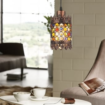 Jadida Antique Copper Pendant Light 100