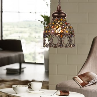 Jadida Antique Copper Pendant Light 220