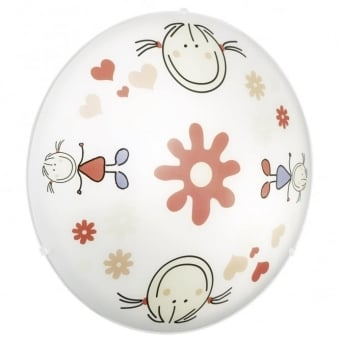 Eglo Junior Girls Flowers and Smiles Wall and Ceiling Children's Light