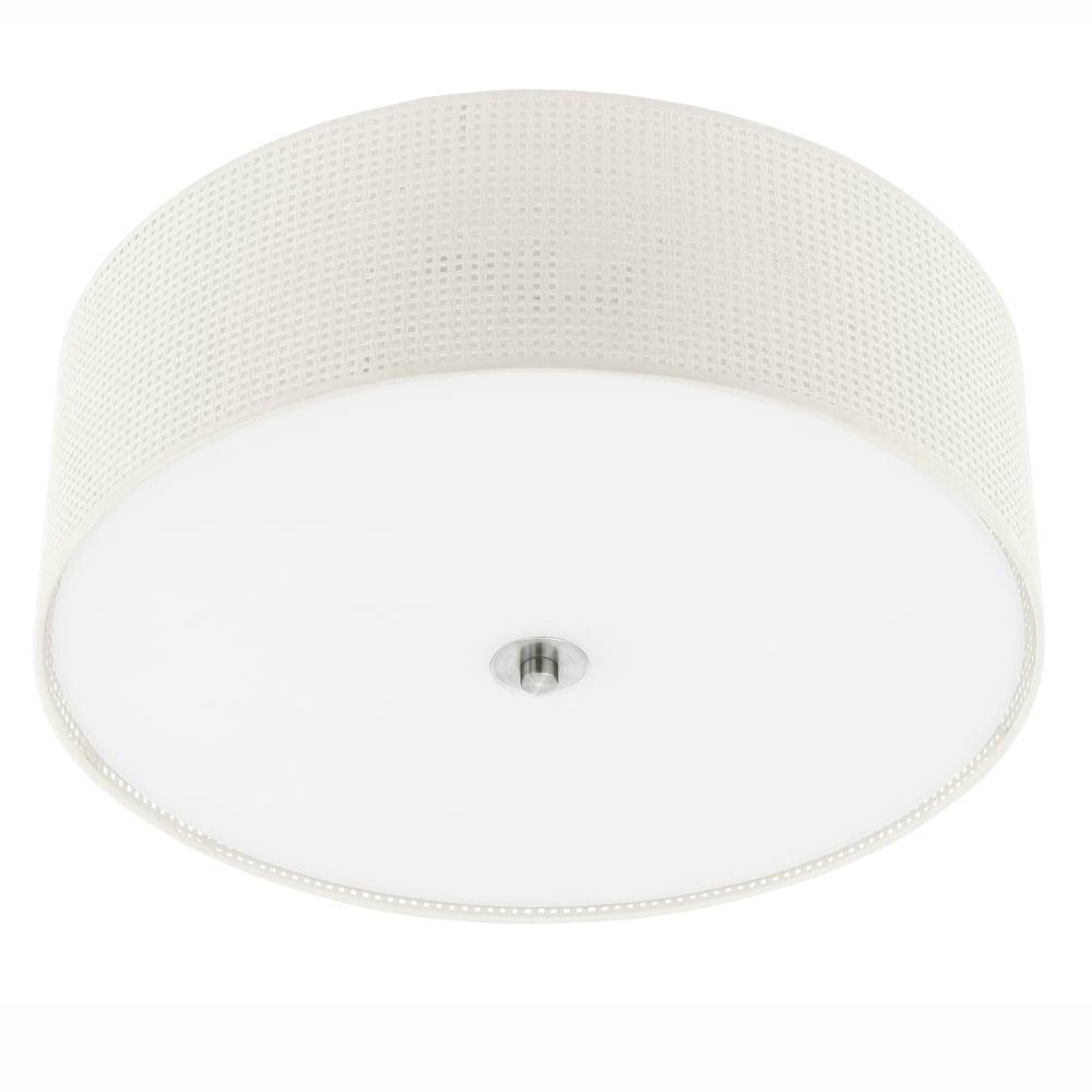 Eglo 91282 kalunga cream fabric ceiling light kalunga cream fabric ceiling light mozeypictures Choice Image