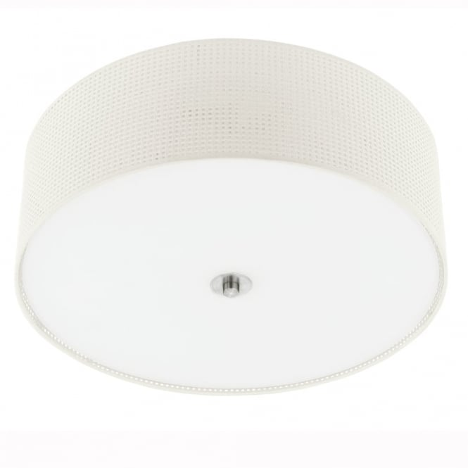 Eglo Kalunga Cream Fabric Ceiling Light