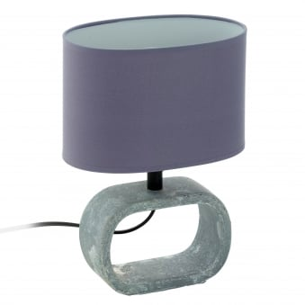 Lagonia 1 Grey Ceramic Table Lamp with Grey Shade