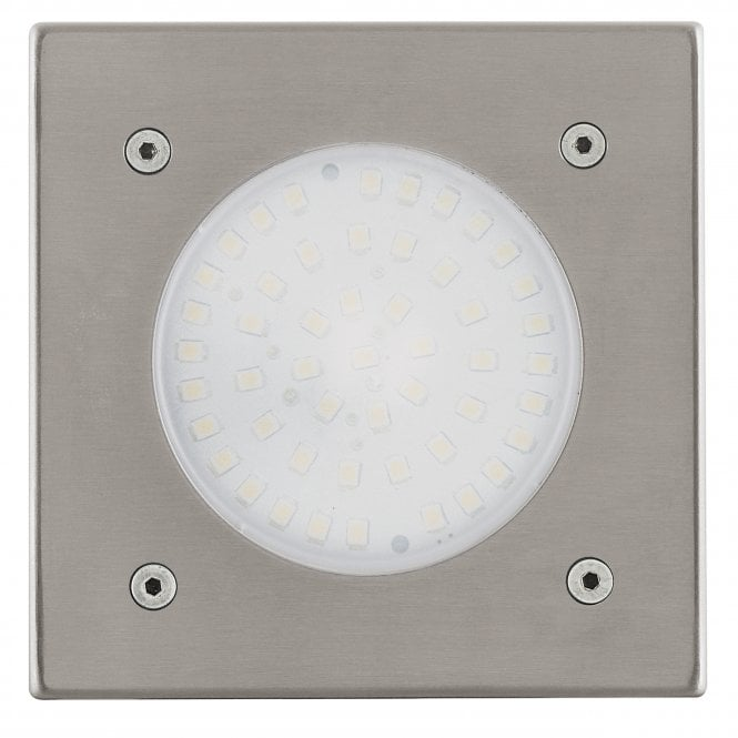 Eglo Lamedo Square IP65 LED Stainless Steel Recessed Ground Light