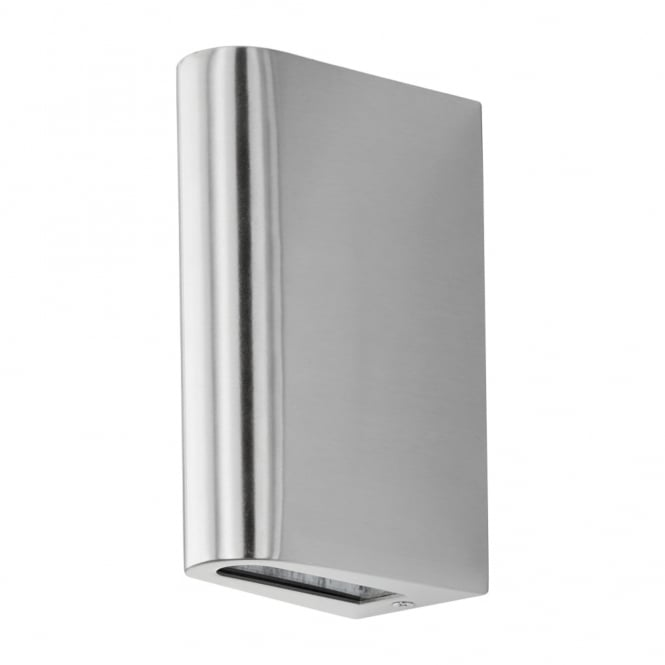 Eglo Langreo LED Up and Down Exterior Wall Light in Stainless Steel