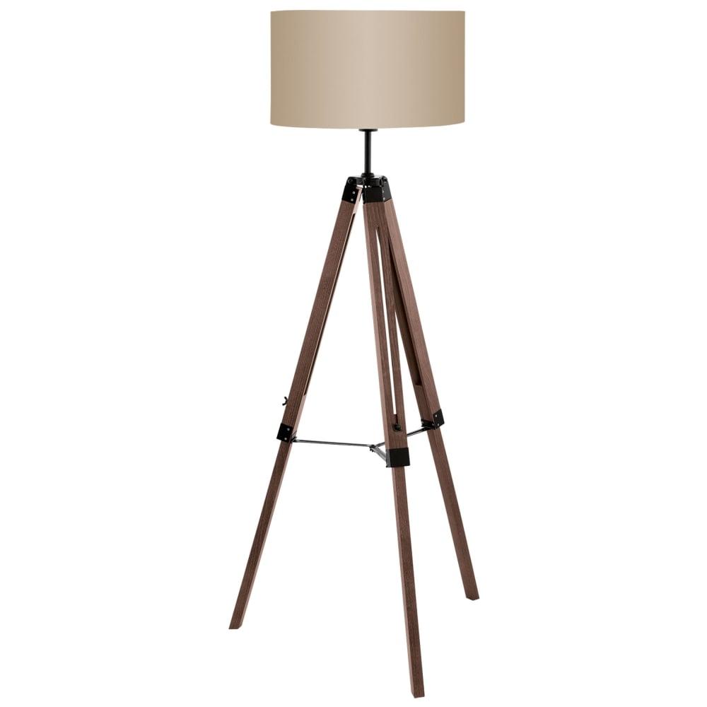 Eglo 94326 lantada tripod floor lamp in dark wood lantada tripod floor lamp in dark wood mozeypictures Image collections