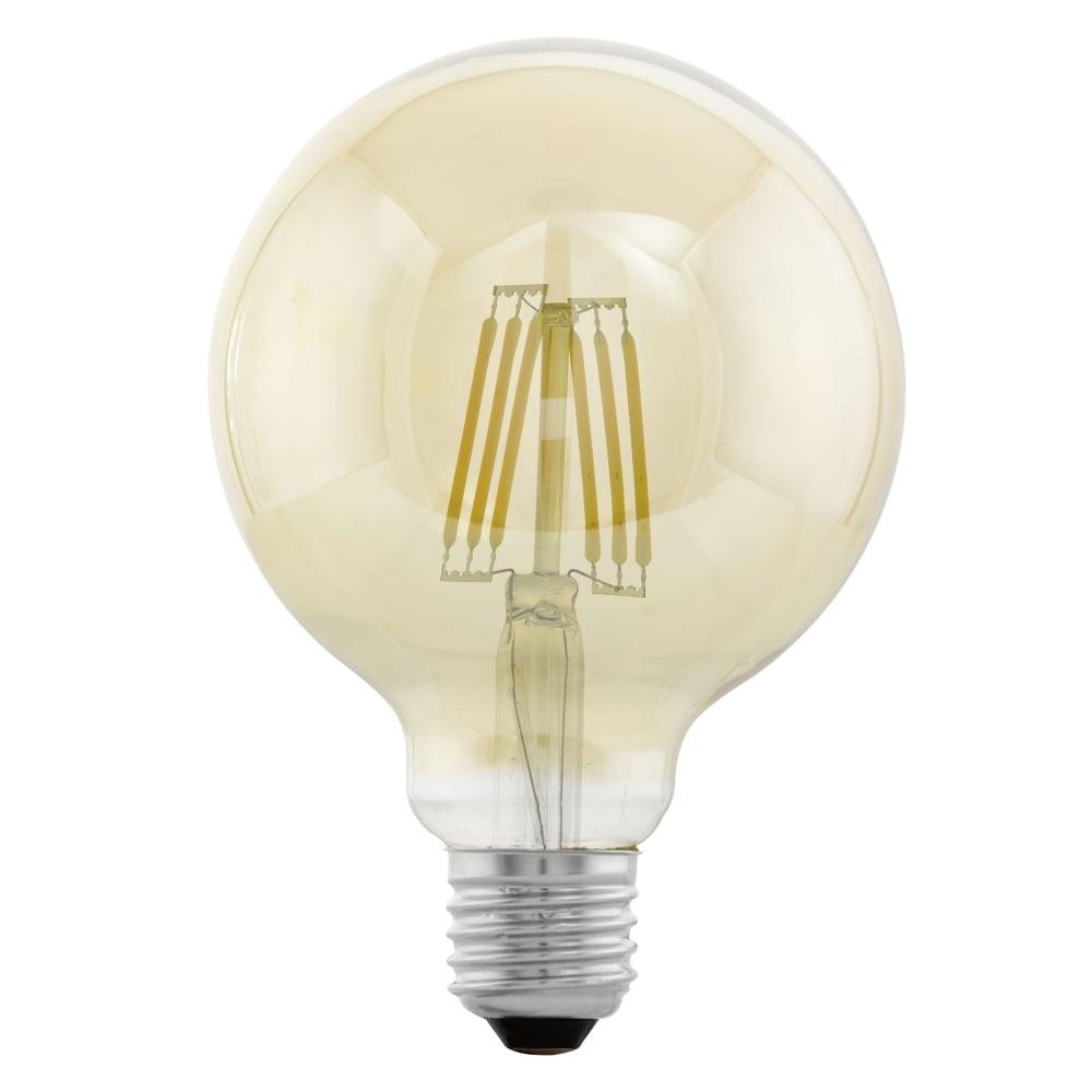 eglo 11522 large globe shaped 4w led filament lamp. Black Bedroom Furniture Sets. Home Design Ideas