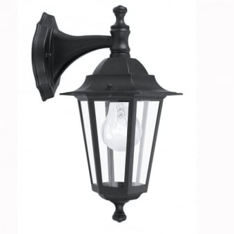 Laterna 4 Black IP44 Exterior Cast Aluminium Down Wall Light