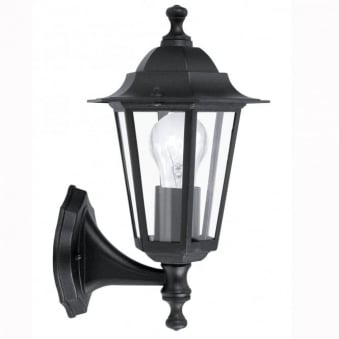 Laterna 4 Black IP44 Exterior Cast Aluminium Up Wall Light