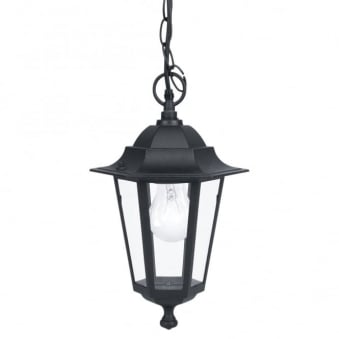 Laterna 5 Black IP44 Exterior Cast Aluminium Pendant Light