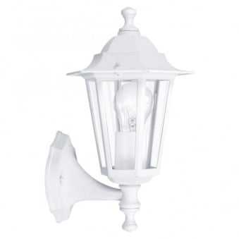 Laterna 5 White IP44 Exterior Cast Aluminium Up Wall Light