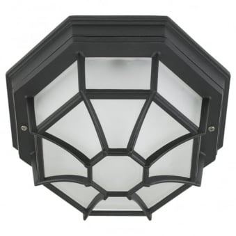 Laterna 7 IP44 Outdoor Ceiling Light in Black