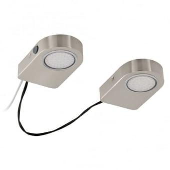 Lavaio Satin Nickel Set of 2 Under Cabinet Lights