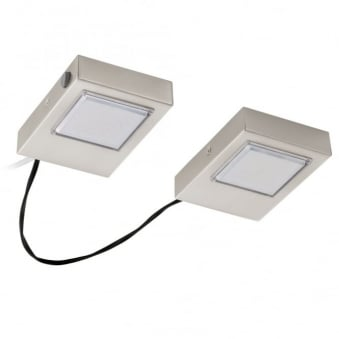 Lavaio Squared Satin Nickel Set of 2 Under Cabinet Lights