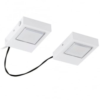 Lavaio Squared White Set of 2 Under Cabinet Lights