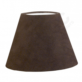 Leather Dark Brown Tapered Drum Shade