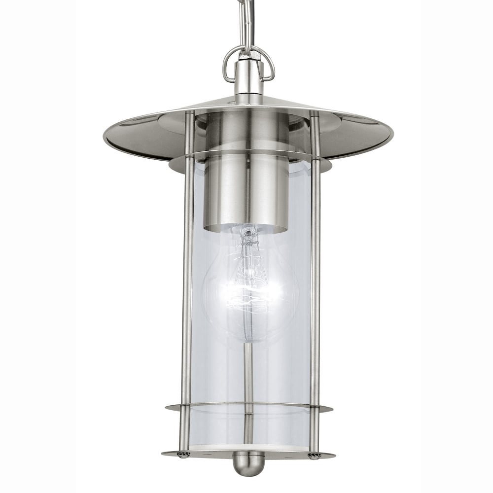 Eglo 30186 lisio outdoor ip44 stainless steel pendant light - Stainless steel kitchen pendant light ...