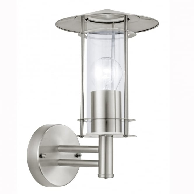 Eglo Lisio Outdoor IP44 Stainless Steel Wall Light
