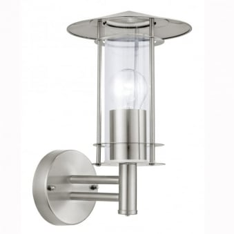 Lisio Outdoor IP44 Stainless Steel Wall Light
