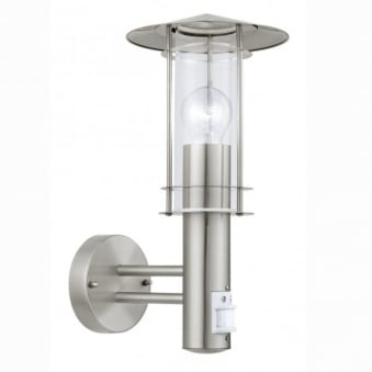 Lisio PIR Outdoor IP44 Stainless Steel Wall Light