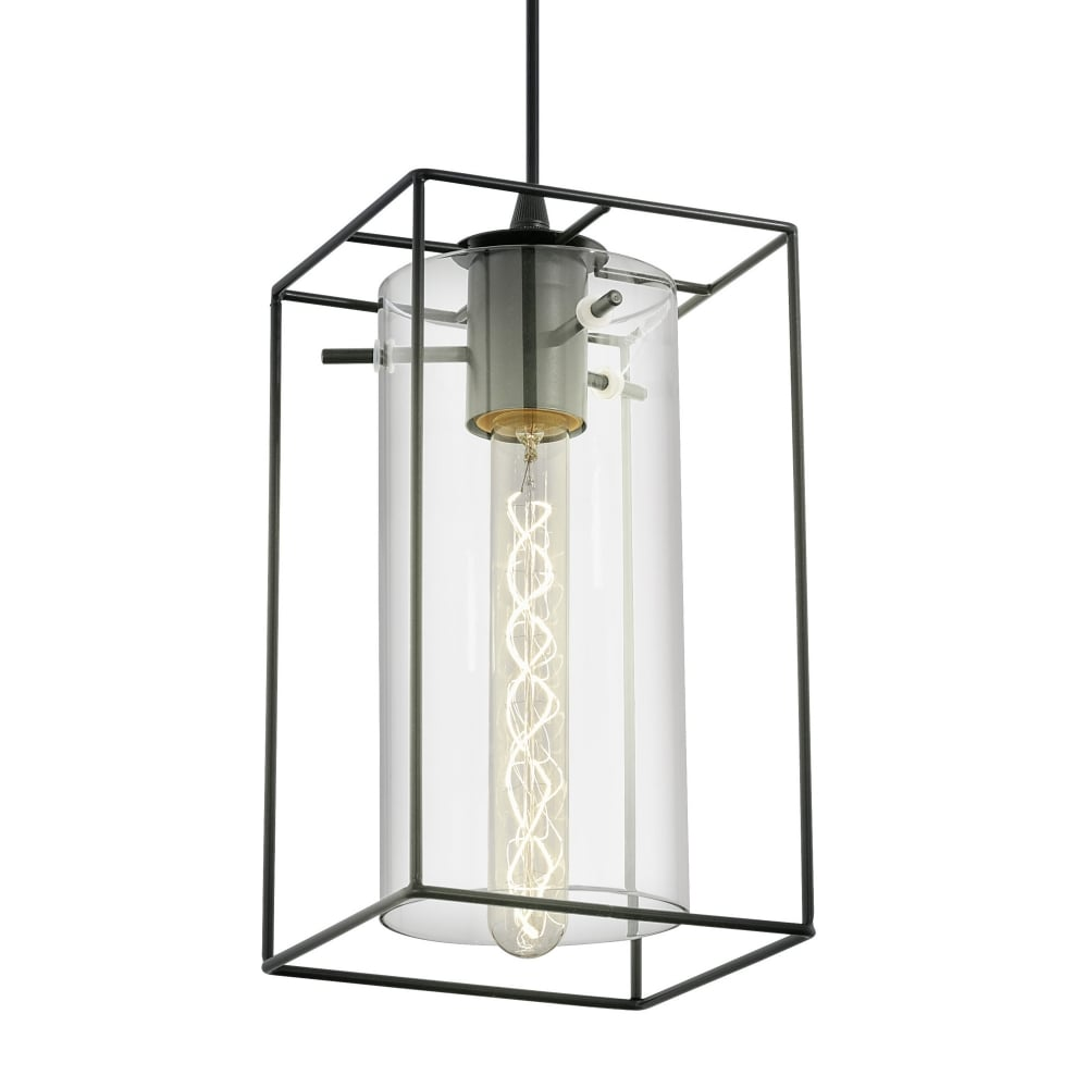 Eglo 49495 Loncino Single Pendant Light In Black With